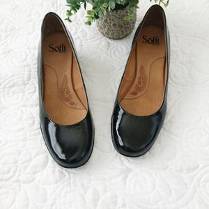 NEW Soft | Black Patent Leather Low Heel Pump 8